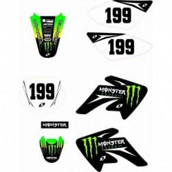 Adesivi Per Carena Pit Bike CRF 70 Grafiche Monster BSE cross minicross - 1