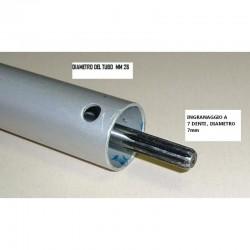 80cm ASTA 26mm RICAMBIO PER DECESPUGLIATORE MULTIFUNZIONE INGRANAGGIO 7 DENTI - 1