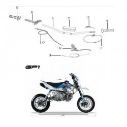 SPUGNA PROTEZIONE MANUBRIO BASSO MOTARD KAYO GP1 RACING - pit bike stradale minimoto paracolpi - 1